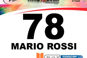 Numeri personalizzati per gli atleti iscritti entro oggi 5 Settembre