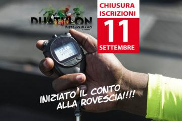 CHIUSURA ISCRIZIONI – 11 SETTEMBRE non mancare!!!!